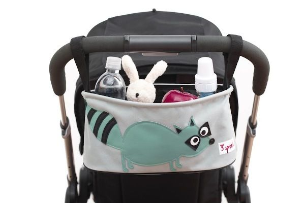 Raccoon Stroller Organiser from 3 Sprouts   Pram Accessories at Hello Charlie