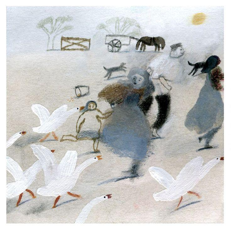 Illustration by Laura Carlin for Jonh Clare's The Shepherd's Calendar