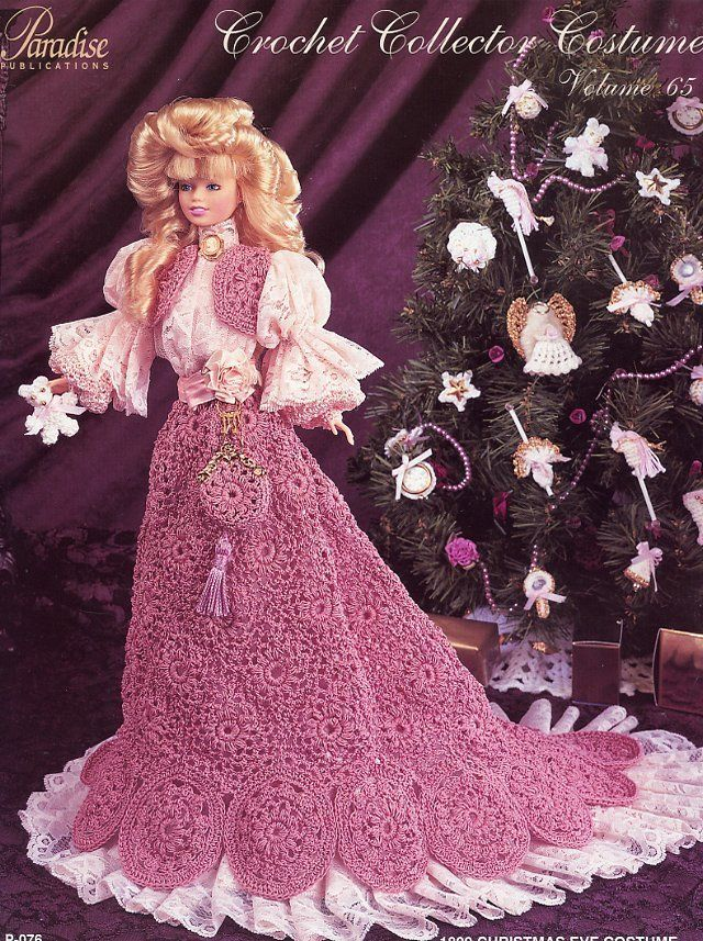 1899 Christmas Eve Costume Paradise Vol 65 Barbie New Crochet Pattern No Doll | eBay