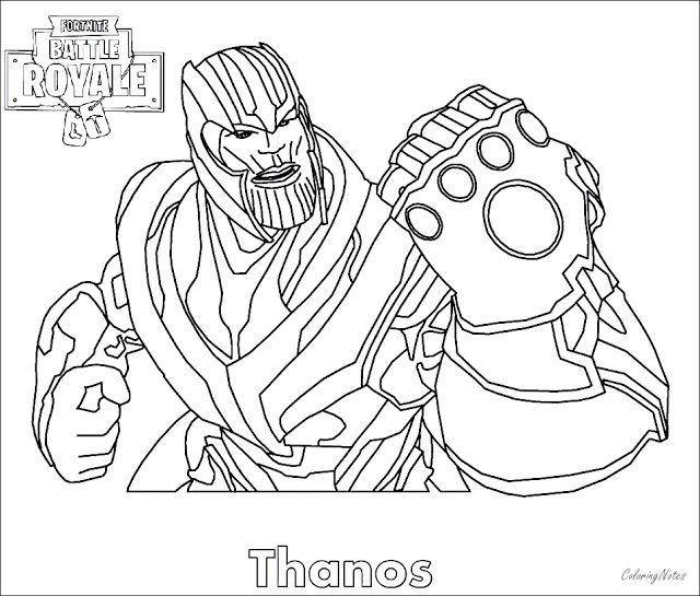 Fortnite Coloring Pages Thanos Avengers Coloring Pages Coloring Pages Coloring Pages To Print