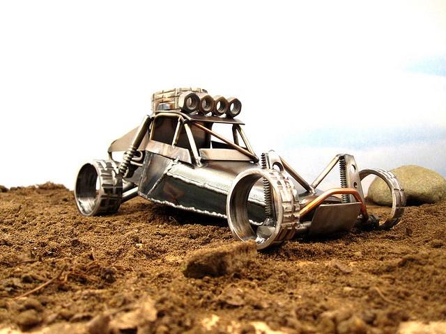 Metal Sculpture of the Trophy Truck Killer by Josh Welton by Brown Dog Welding, via Flickr