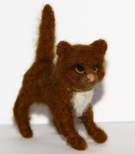 sweet Cat  needle felted miniature beautiful animal toys  handmade #10 | eBay