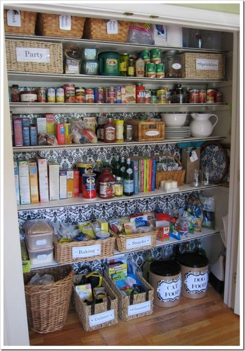 How to Turn a Closet into a Pantry {closet} ~ This is a great post for transforming a coat closet into a pantry.  It's also perfect for anyone thinking about reorganizing their pantry!