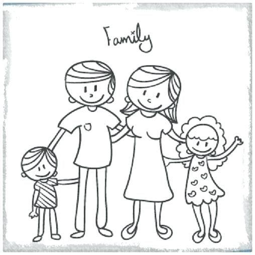 Pagina Para Colorear Familiar Imagenes De Una Familia Feliz Dibujos