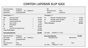 Contoh Format Slip Gaji Download In 2019 Words