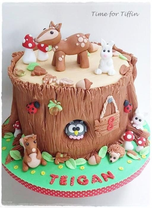 Woodland cake  by Time for Tiffin