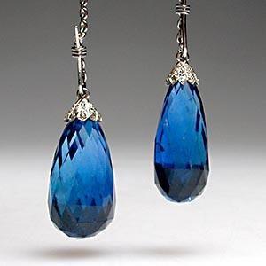 burmese blue sapphire earrings