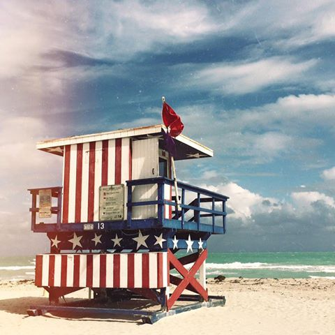 Beach in Miami, FL - USA