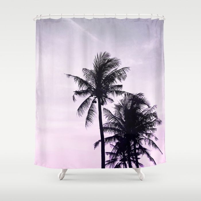 Buy Palms On The Beach By Dominique Vari On Shower Curtain