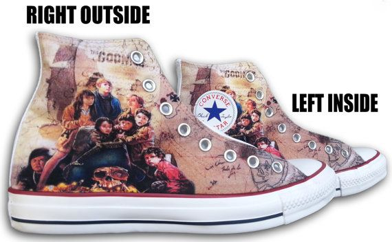 The Goonies Custom Converse All Stars by ArkhamPrints on Etsy, $85.00