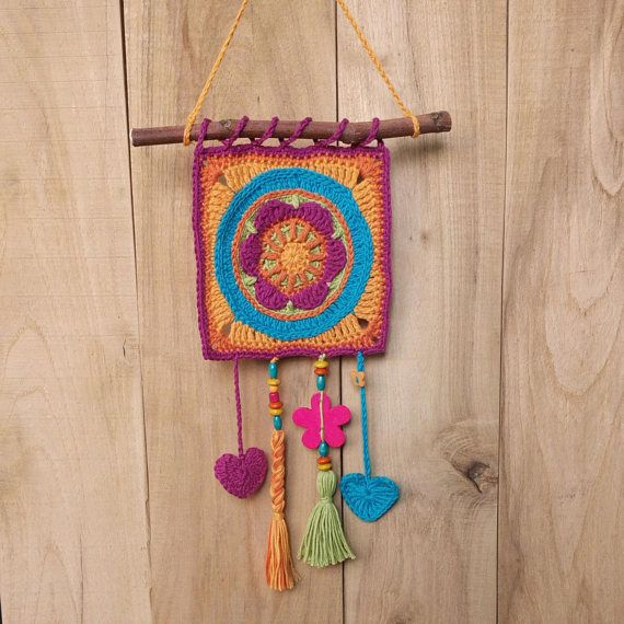 Check out this item in my Etsy shop https://www.etsy.com/listing/528412900/boho-wall-decor-crochet-motif-wall-decor