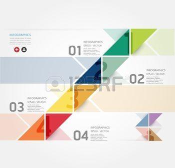 page couverture: Modern Design modèle infographique de style Minimal  peut être utilisé pour infographie  bannières numérotées  lignes de découpe horizontales  mise en page graphique ou site web