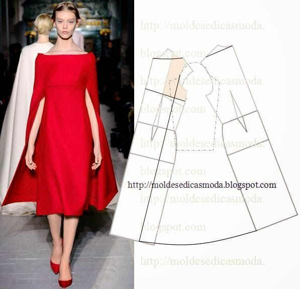 Moldes Moda por Medida: TRANSFORMAÇÃO DE VESTIDOS _104  -If you liked Lupita Nyong'o's Ralph Lauren gown at the Golden Globes here it is!