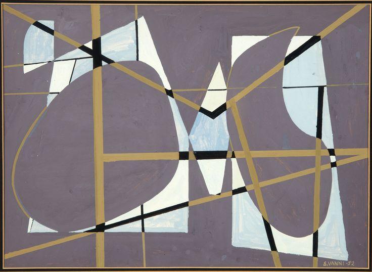 Sam Vanni: Sommitelma, 1952, guassi, 31x43 cm - Hagelstam