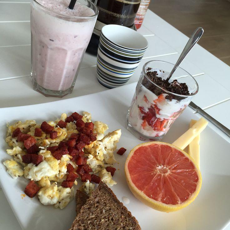 Breakfast - simple, yet delicious :-P