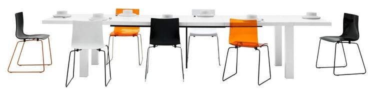 Mesa con extensión extra, laca blanca.