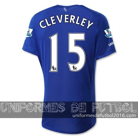 Venta de Jersey local para uniforme del Everton CLEVERLEY 2015-16