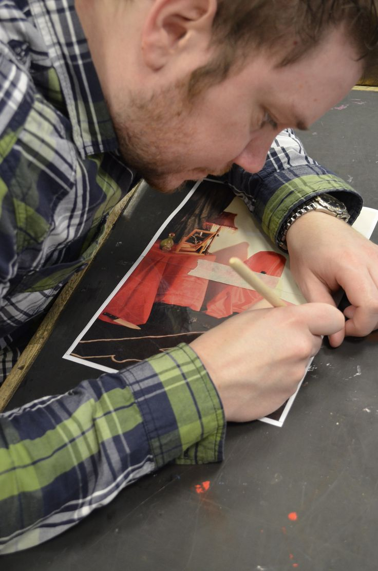 Austin doing his drypoint