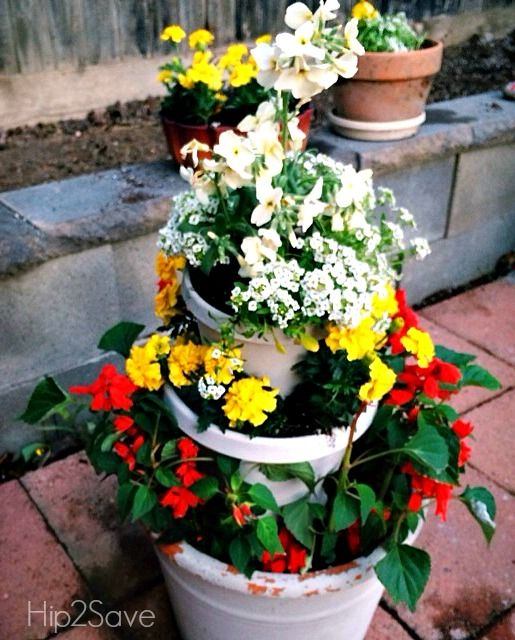Diy Stacked Herb Garden: 1000+ Ideas About Potted Herb Gardens On Pinterest