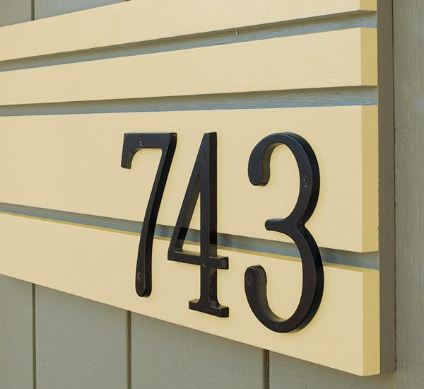 Creative ideas for displaying your home address diy - House number plaque ideas ...
