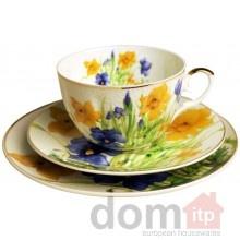 Porcelain Cup, Saucer, and Plate - Breakfast Set - Daffodil. Filizanka ze Spodkiem. Designed in Poland. $23.99: Teas Cups, Breakfast, Saucer, Things Beautiful Porcelain, Teapots Teacups, Daffodils Cups, Teacups Teapots, Daffodils Porcelain, Porcelain Cups