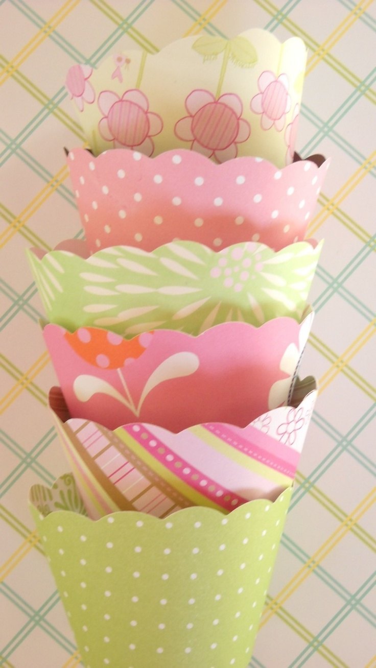 Shabby Chic Cupcake Wrappers