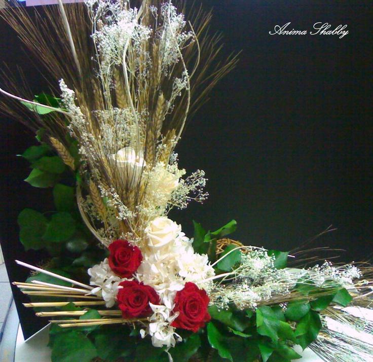 composizione di fiori stabilizzati