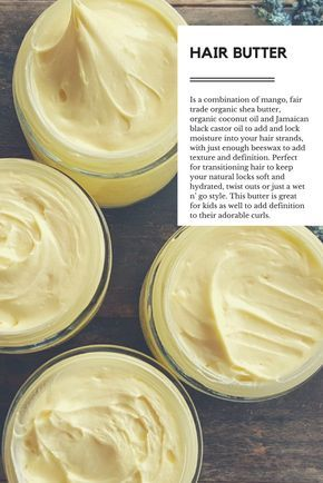 Natural Mixologist's Twist Out Balm - HEALTHY HAIR BUTTER is a combination of mango, fair trade organic shea butter, organic coconut oil and Jamaican black castor oil to add and lock moisture to your