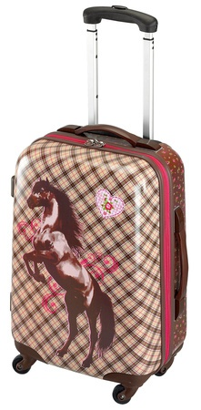 Horse Friends 4 wheel trolley case  30526