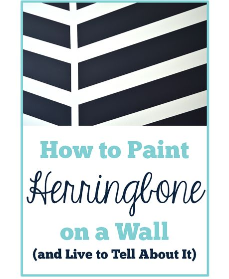 How to Paint Herringbone on a Wall (and Live to Tell About It)