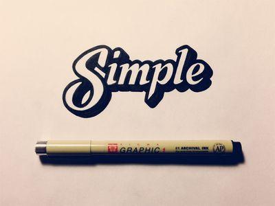 Simple by Sean McCabe // Inspiration for the EMRLD14 Team // www.emrld14.com