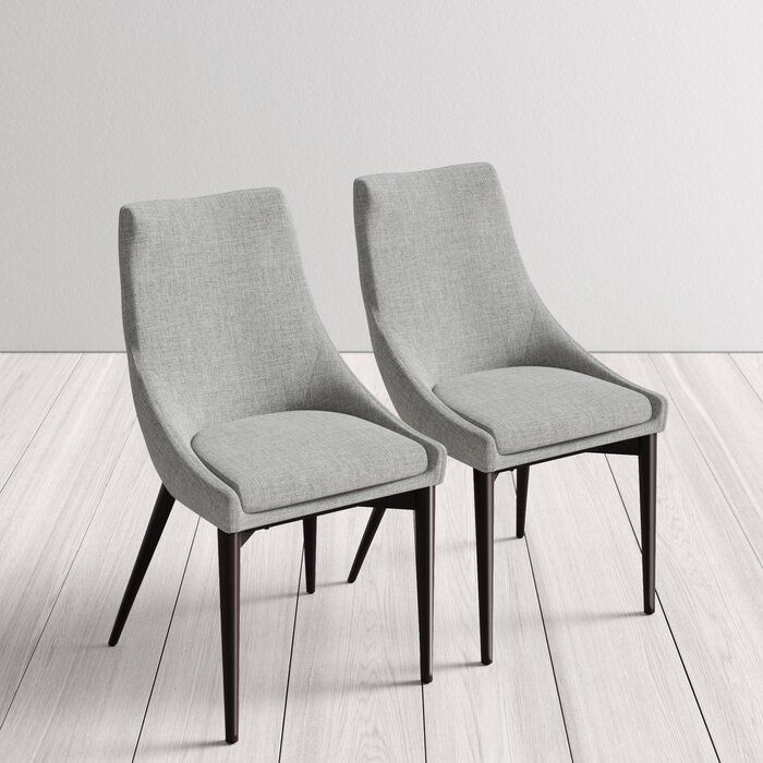Cade Solid Wood Upholstered Dining Chair Reviews Allmodern Upholstered Dining Chairs Dining Chairs Dinning Chairs Modern