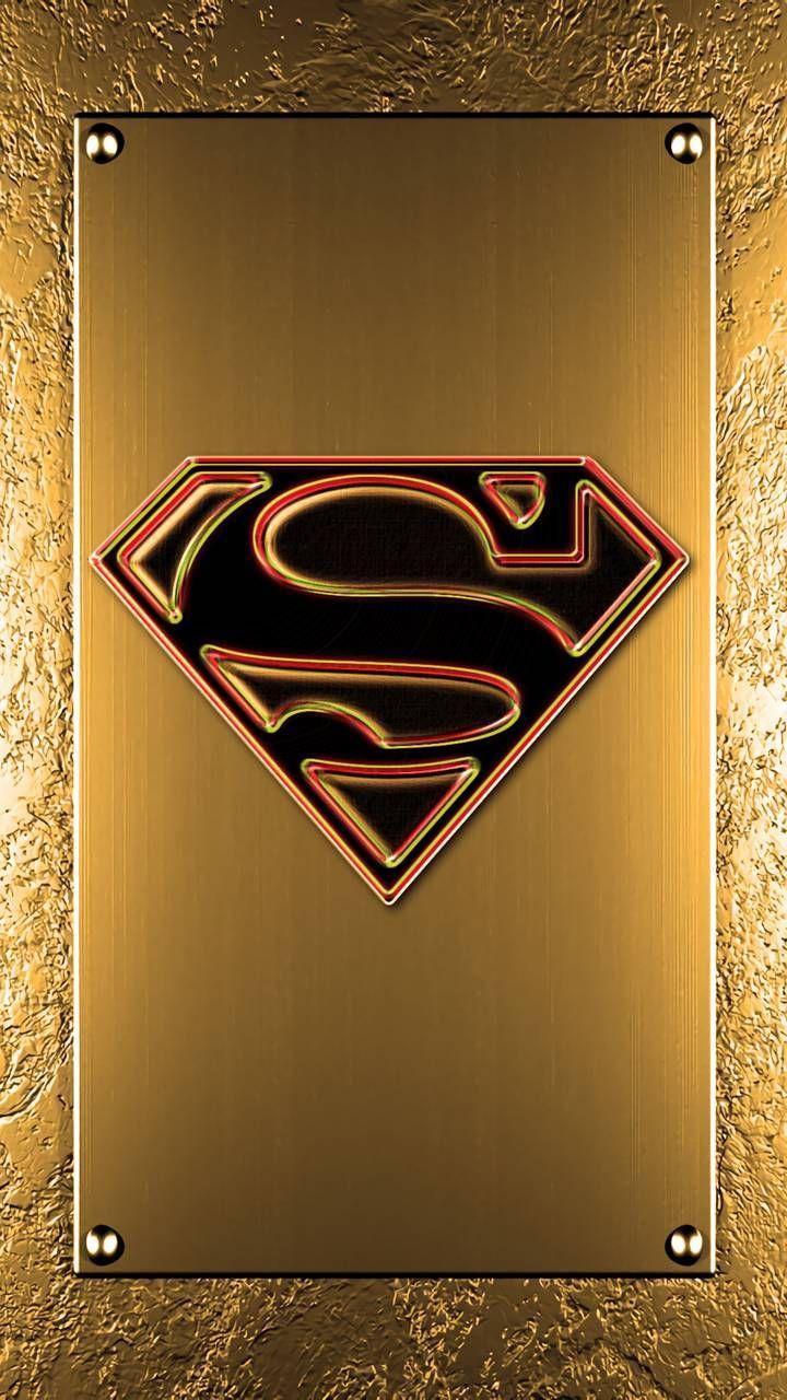 Download Gold Superman Logo Wallpaper by