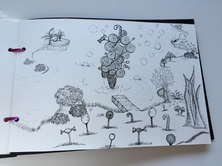 Story book - ink pen drawing - dreamland - by Stingna