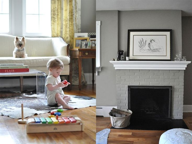 Paint That Brick Fireplace Grey Home Sweet Dream Home
