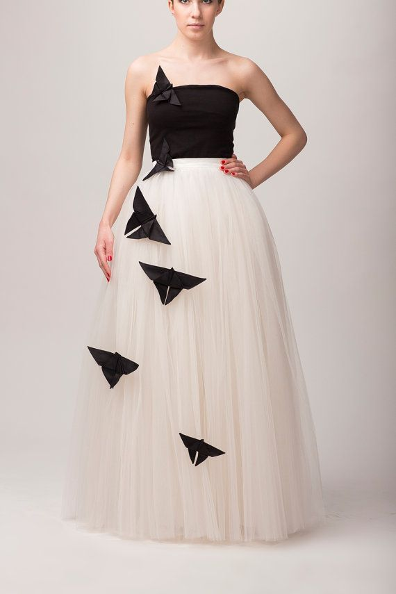 Maxi tutu tulle skirt maxi petticoat ecru tutu by Fanfaronada, €150.00