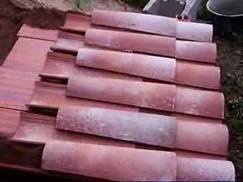 Tejados - Cubierta con teja árabe morterada - YouTube