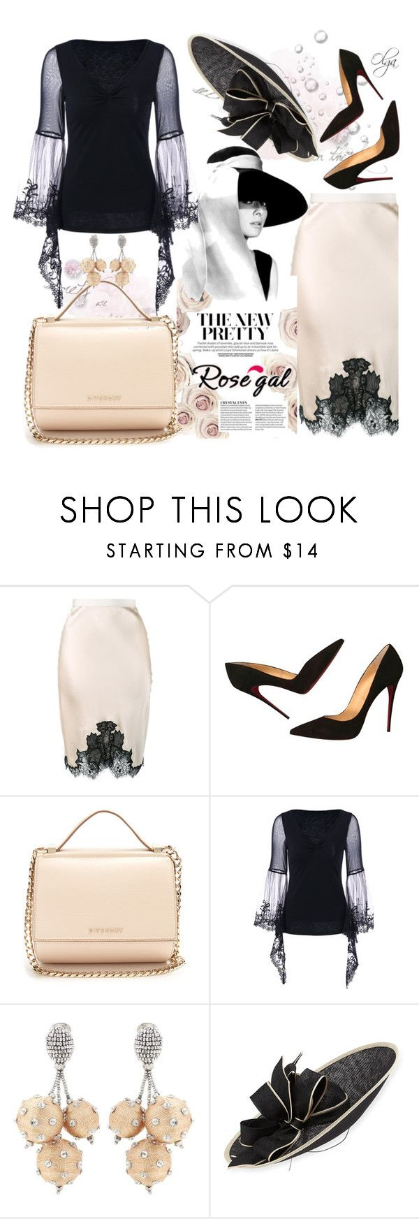 """""""Madame"""" by olga1402 ❤ liked on Polyvore featuring Helmut Lang, Christian Louboutin, Givenchy, Oscar de la Renta and Rachel Trevor-Morgan"""