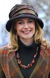 This makes me think of buying another hat! House of Bruar Ladies Tweed Wax Rouched Hat