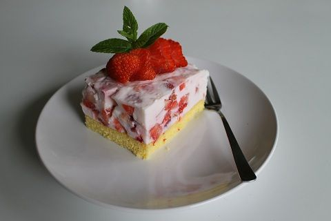 gezonde aardbeientaart van Gudrun