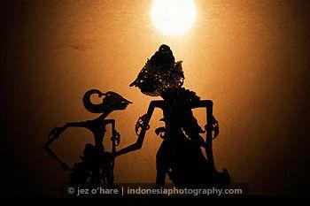 Wayang Kulit (Leather Shadow Puppet) Show, Yogyakarta, Java, Indonesia.