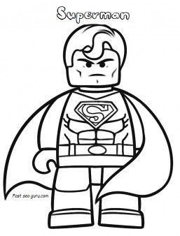 Superheroes  free  Print out  characters  the lego movie  superman  coloring pages  fargelegge tegninger   activities  worksheets   clipart ...