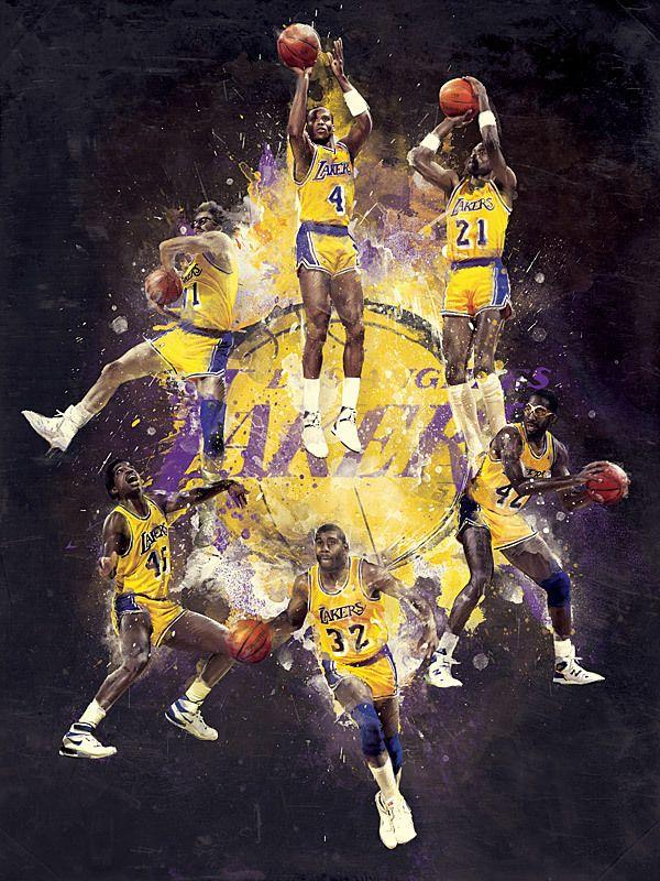 RareInk – Derek Jeter / Lakers by Mike Harrison, via Behance