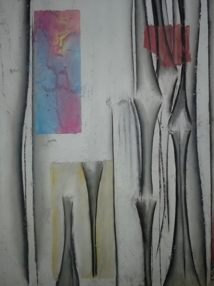 """ROOT OF TWO"" #charcoal #pastel #art work-in-progress Steven Mark de Ciantis, 2014"