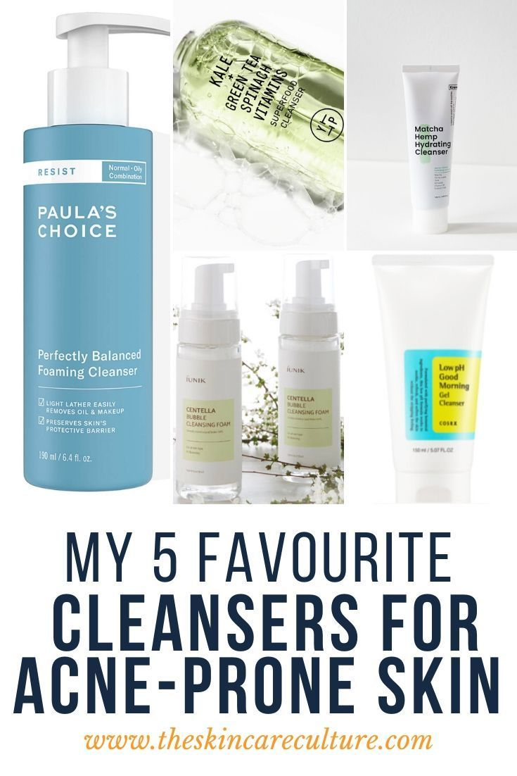 5 Best Cleansers For Acne Prone Skin In 2020 Best Acne Cleanser Acne Prone Skin Acne Prone