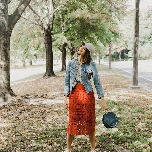 Basking in the glow of the Maya Cutout Skirt | Shop Anthropologie