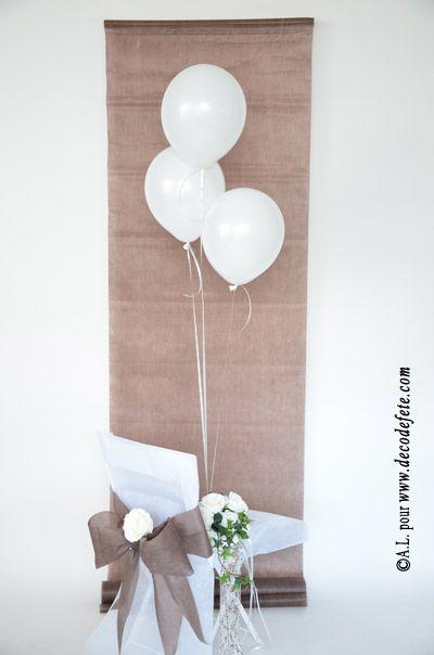 http://www.decodefete.com/25m-tenture-chocolat-p-3733.html, en totale harmonie avec le chemin de table chocolat http://www.decodefete.com/10m-chemin-table-uni-chocolat-p-571.html !  #decoration #mariage #tenture