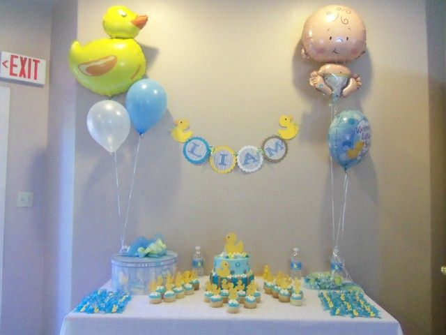 Rubber ducky baby shower party ideas rubber ducky baby for Rubber ducky bathroom ideas