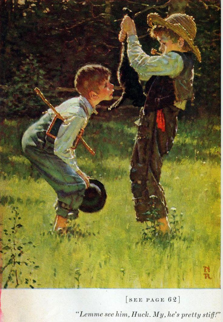 Norman Rockwell Illustrates Mark Twain's Tom Sawyer & Huckleberry Finn (1936-1940)
