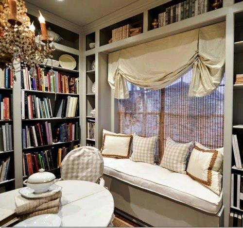 Goodwill LibrarianSilk Taffeta, Windows Seats, Book Nooks, Cote De Texas, Texas Home, Windows Treatments, Window Seats, Home Offices, Joni Webb